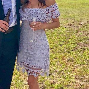 ASTR Lilac Off Shoulder Dress